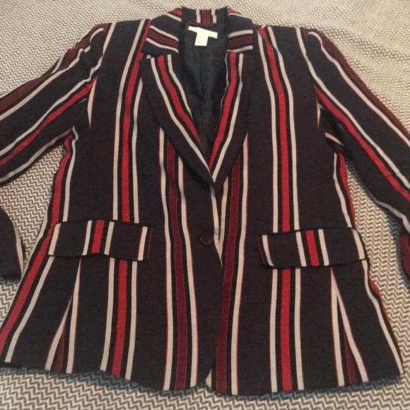 H&M Jackets & Blazers - H & M ladies striped blazer. Size 8